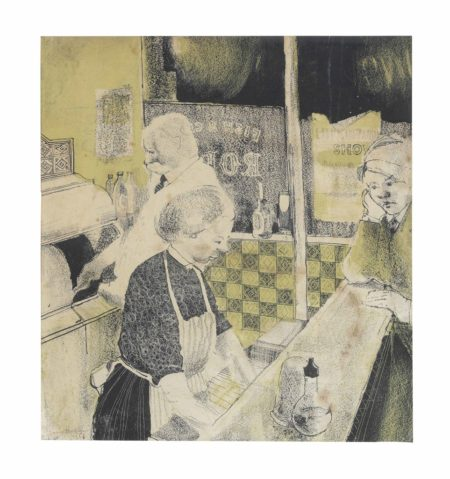 David Hockney-Fish and Chip Shop-1954