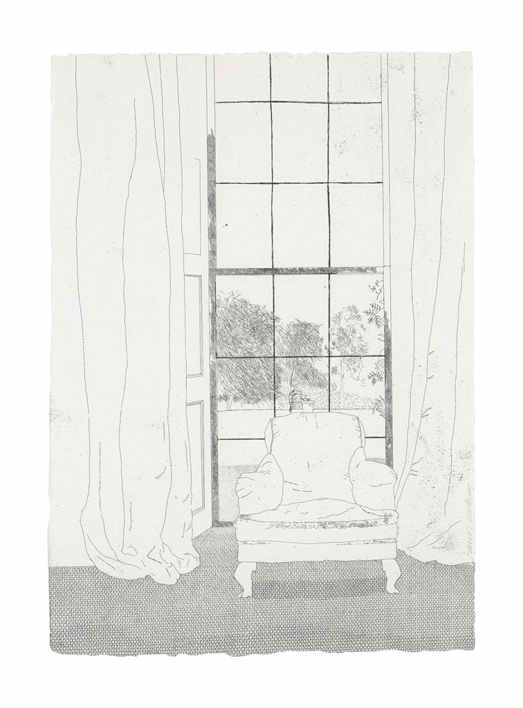 David Hockney-Home, from: Illustrations for Six Fairy Tales from the Brothers Grimm-1969