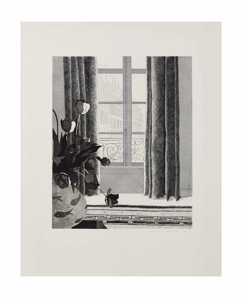 David Hockney-Rue de Seine-1971