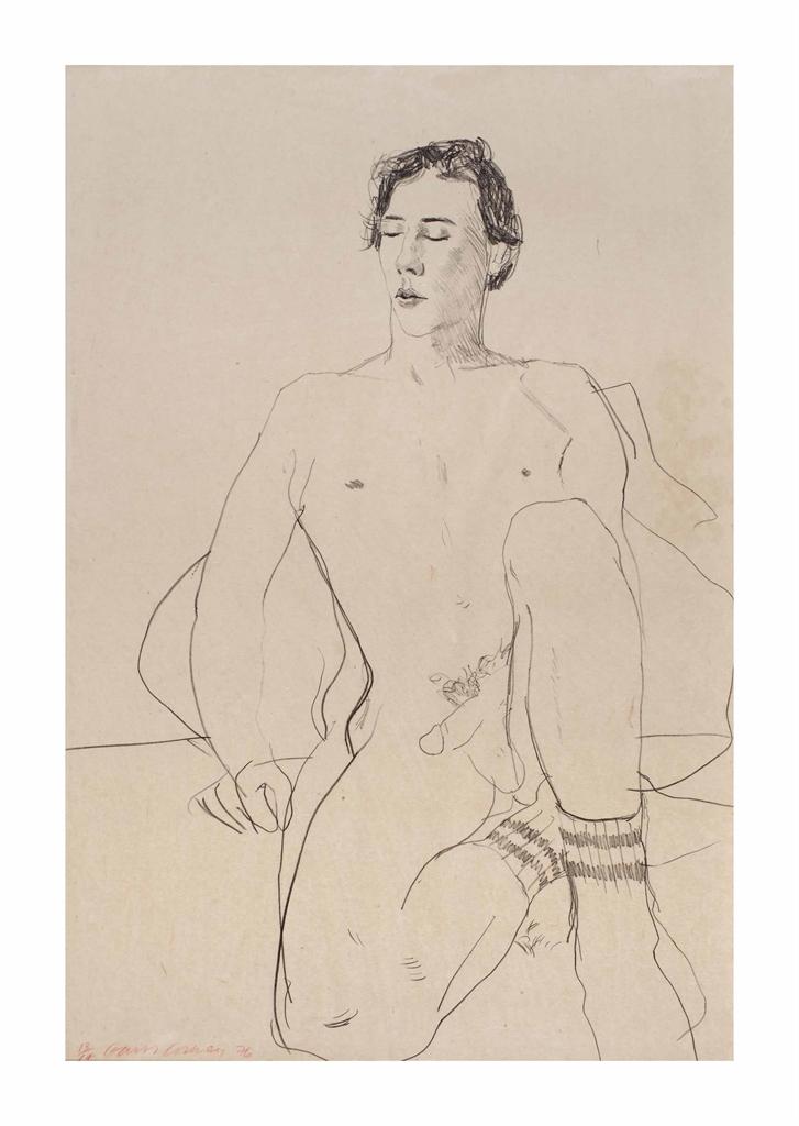 David Hockney-Gregory with Gym Socks-1976