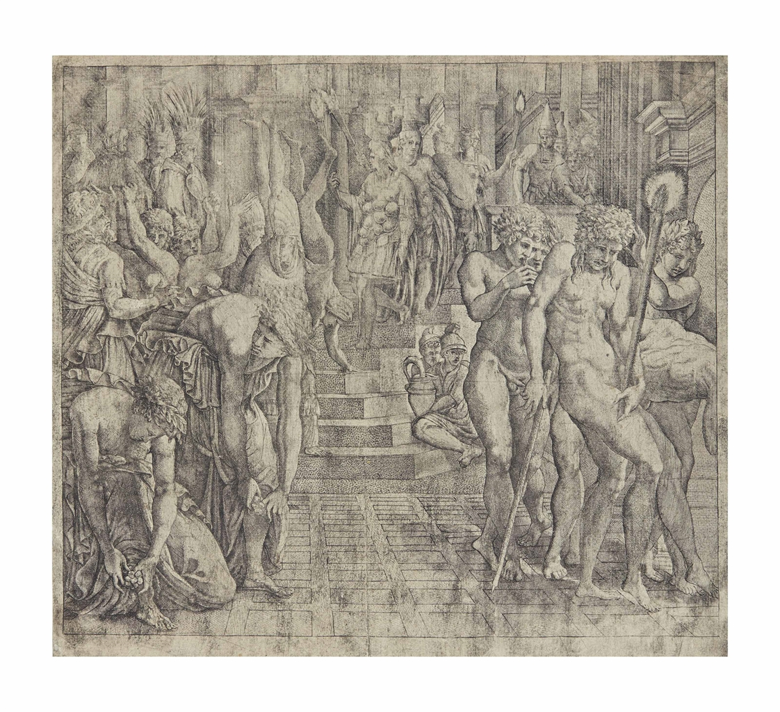 Francesco Primaticcio-Anonymous After Francesco Primaticcio - The Masquerade of Persepolis-1550