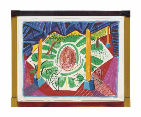 David Hockney-Views of Hotel Well II, from: Moving Focus-1985