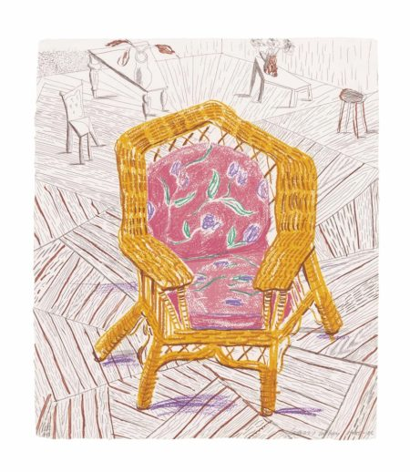 David Hockney-Number one Chair, from Moving Focus-1986