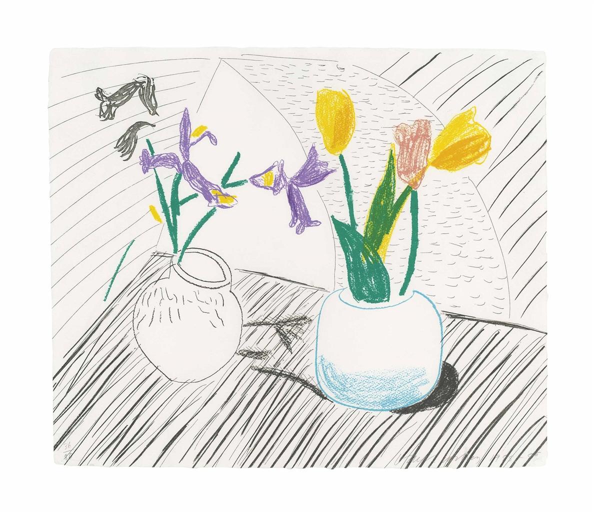 David Hockney-White Porcelain, from: Moving Focus-1986