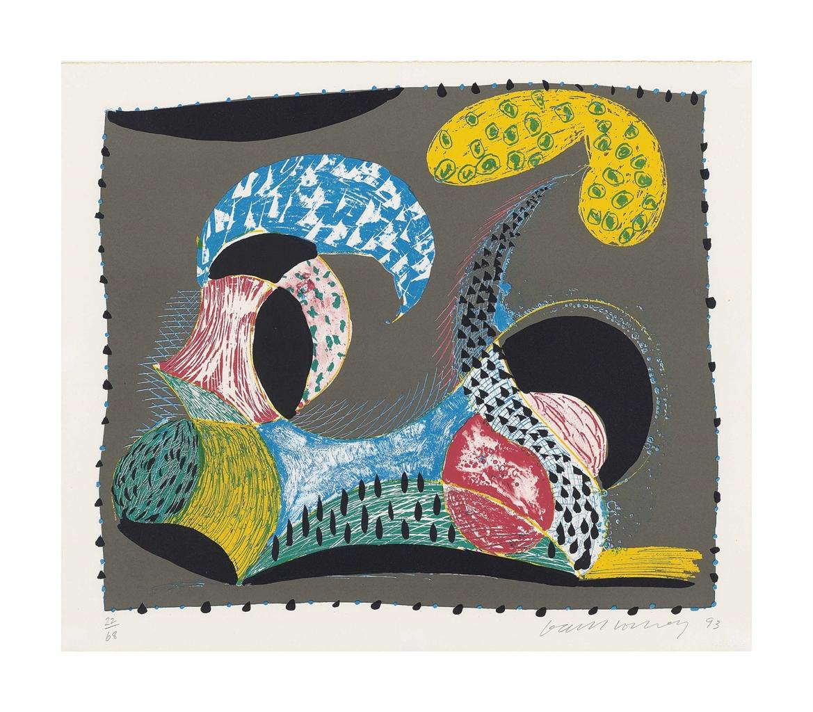 David Hockney-Warm Start, from: Some New Prints-1993