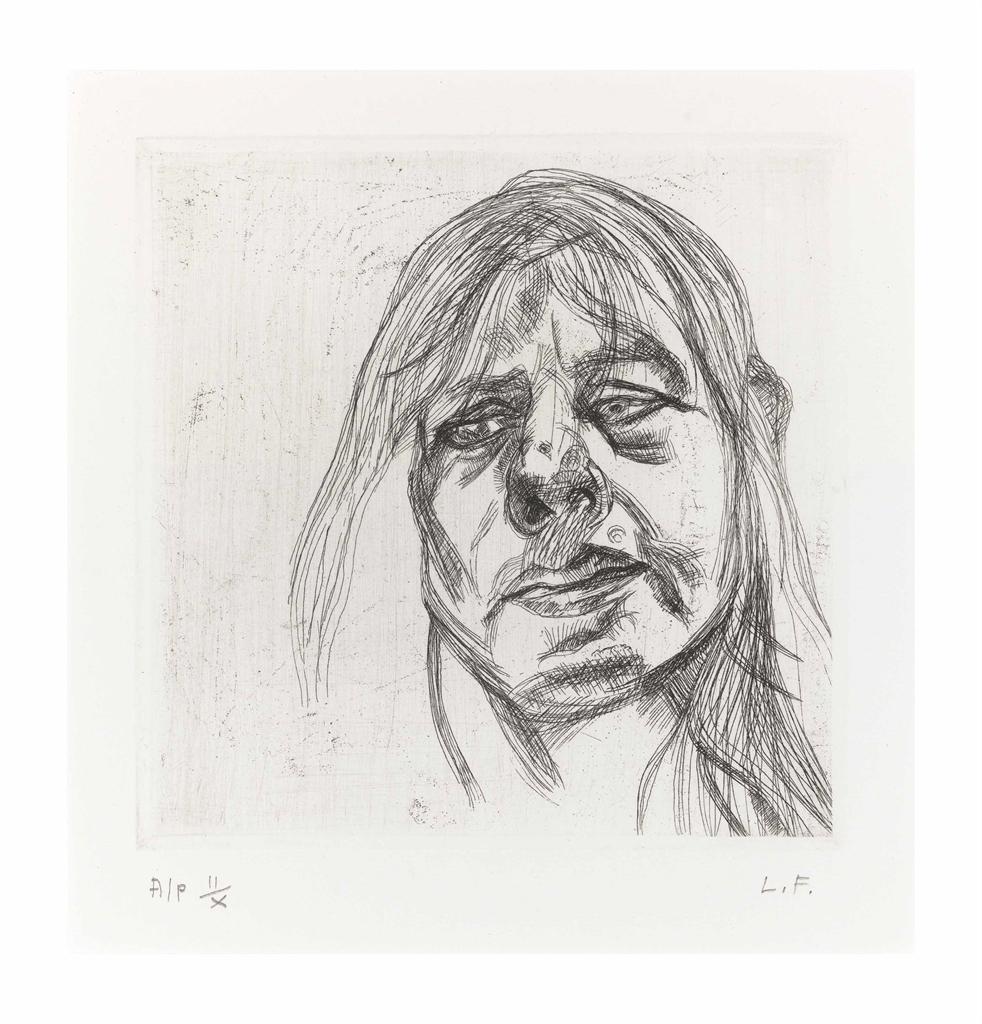Lucian Freud-Head of a Woman-1982