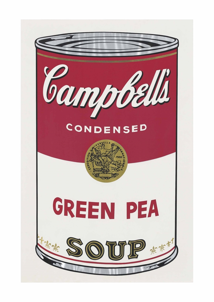 Andy Warhol-Green Pea, from: Campbell's Soup I-1968