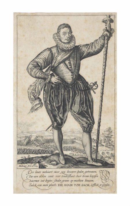 Hendrick Goltzius-Pike-Bearer, facing right-1583