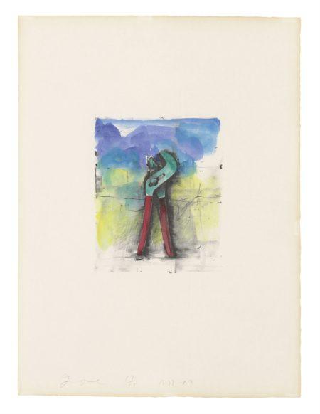 Jim Dine-Ten Hand-Coloured Winter Tools II-1989