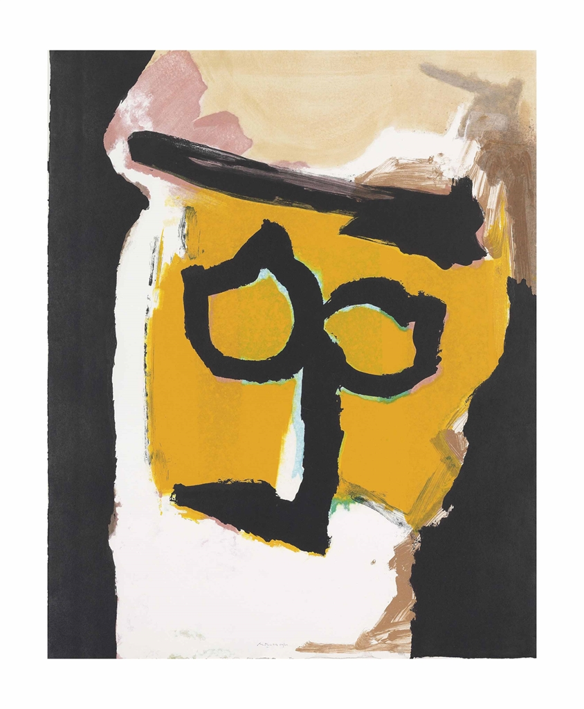 Robert Motherwell-Mask (For Ingmar Bergman)-1989