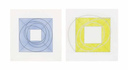 Robert Mangold-Framed Square with Open Center A & Framed Square with Open Center B-2013