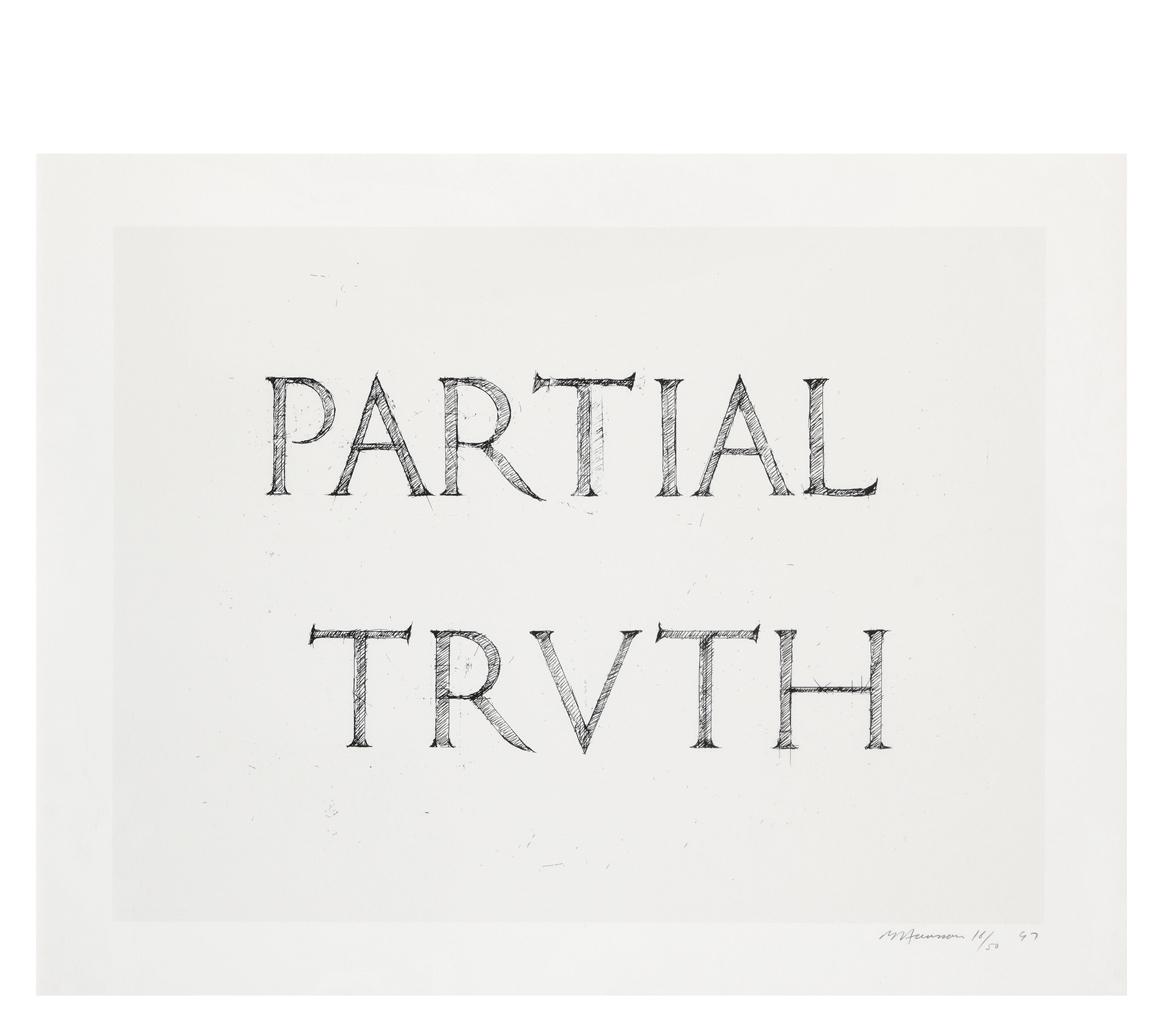 Bruce Nauman-Partial Truth: Three Works-1999