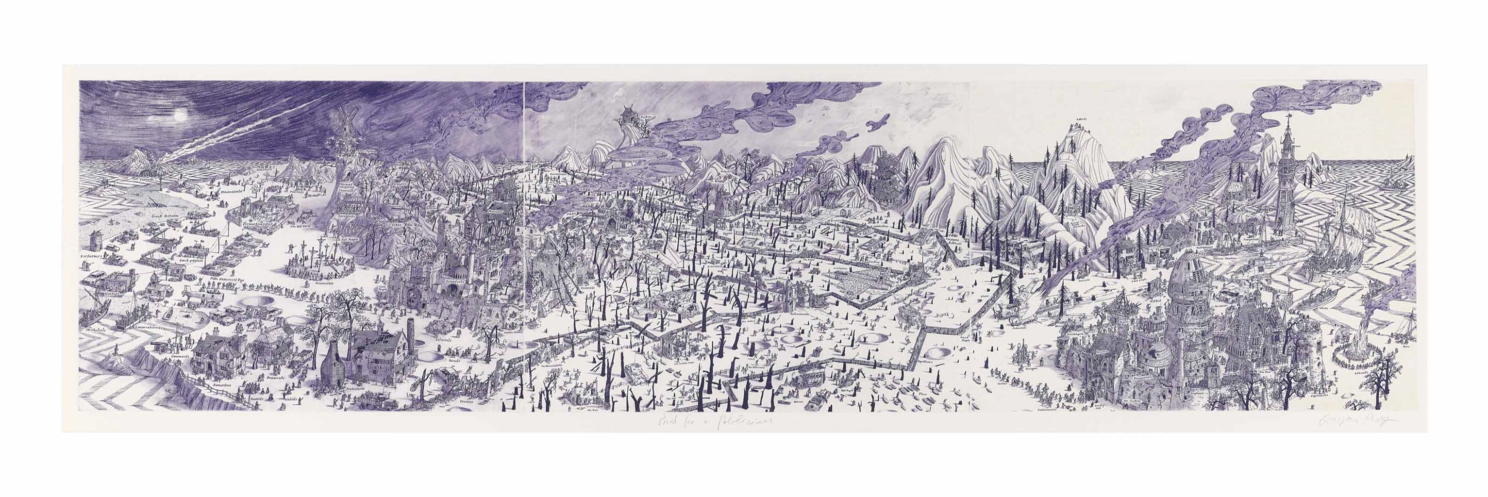 Grayson Perry-Print for a Politician (Violet)-2005