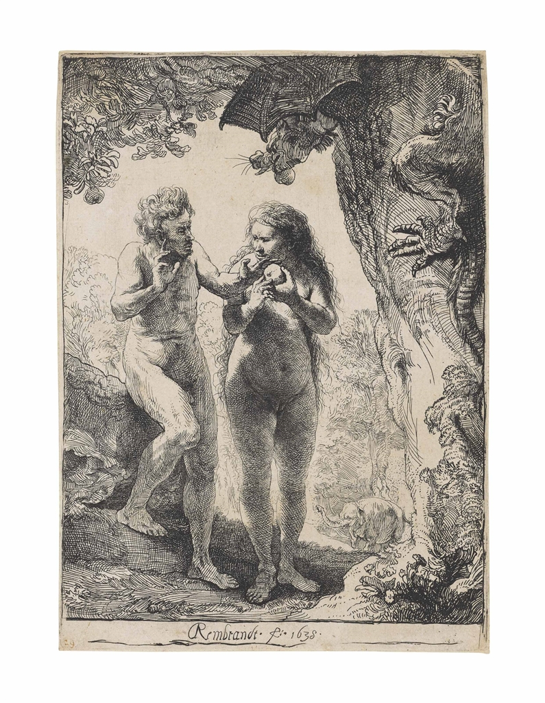 Rembrandt van Rijn-Adam and Eve-1638