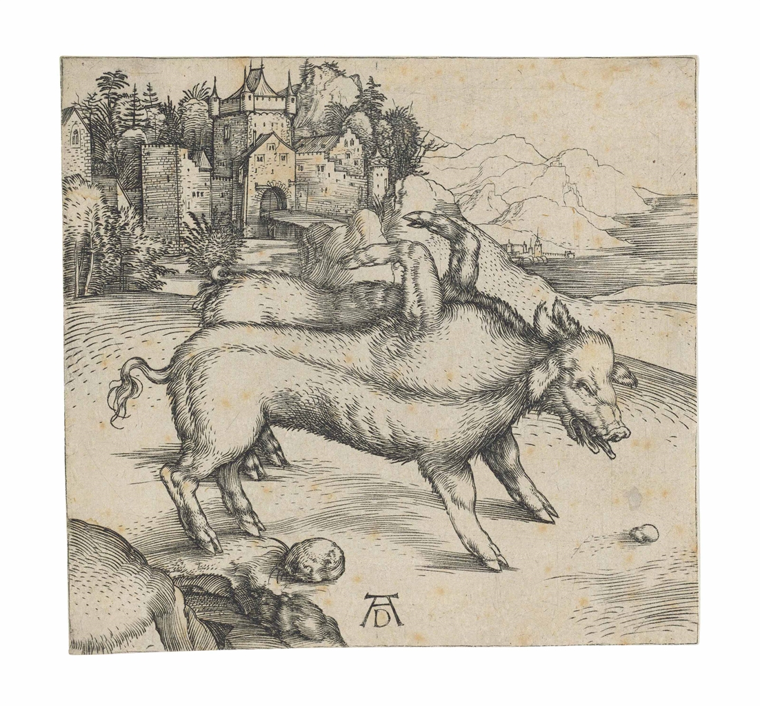 Albrecht Durer-The Monstrous Sow of Landser-1496