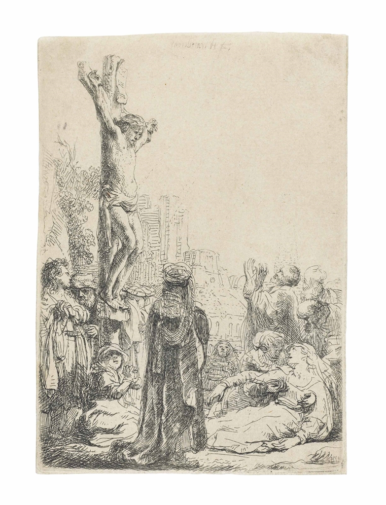 Rembrandt van Rijn-The Crucifixion: Small Plate-1635