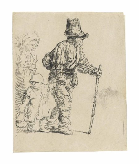 Rembrandt van Rijn-A Peasant Family on the Tramp-1652