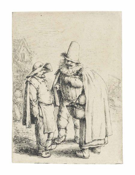 Adriaen van Ostade-Three Grotesque Figures-1638