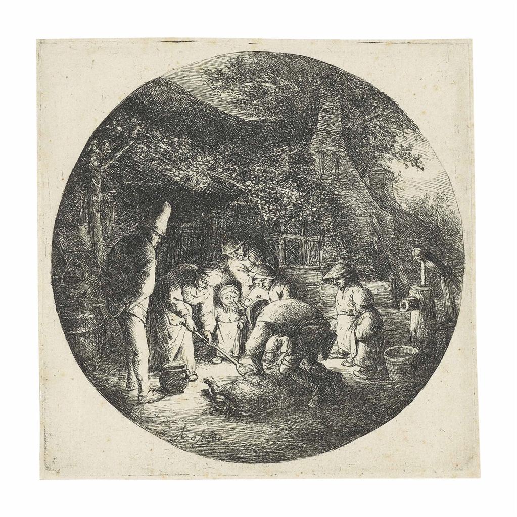 Adriaen van Ostade-The Pig Killers-1642