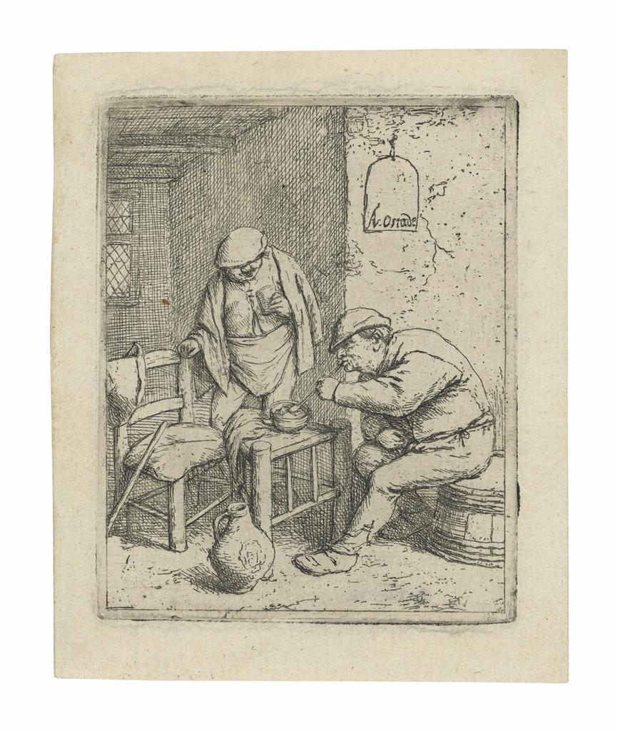 Adriaen van Ostade-The Smoker and the Drinker-1682