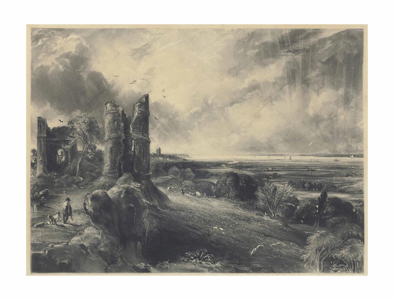 John Constable-After John Constable - Hadleigh Castle, near the Nore-1832