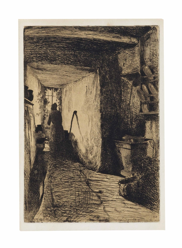 James Abbott McNeill Whistler-The Kitchen, from: Twelve Etchings from Nature-1858