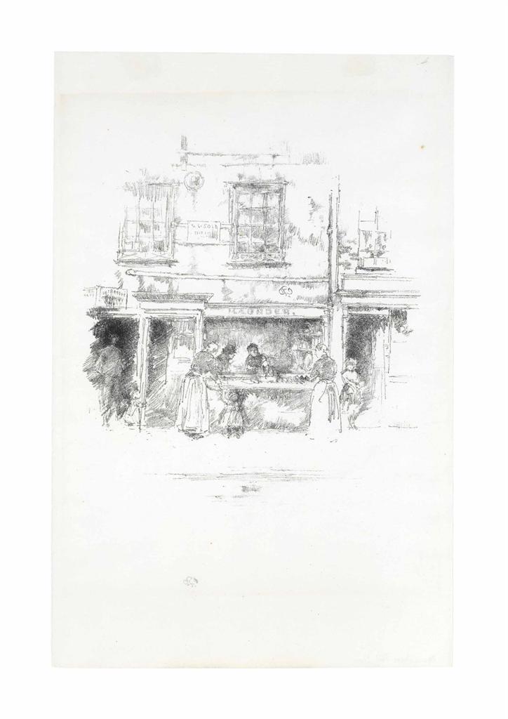 James Abbott McNeill Whistler-Maunder's Fish Shop, Chelsea-1890