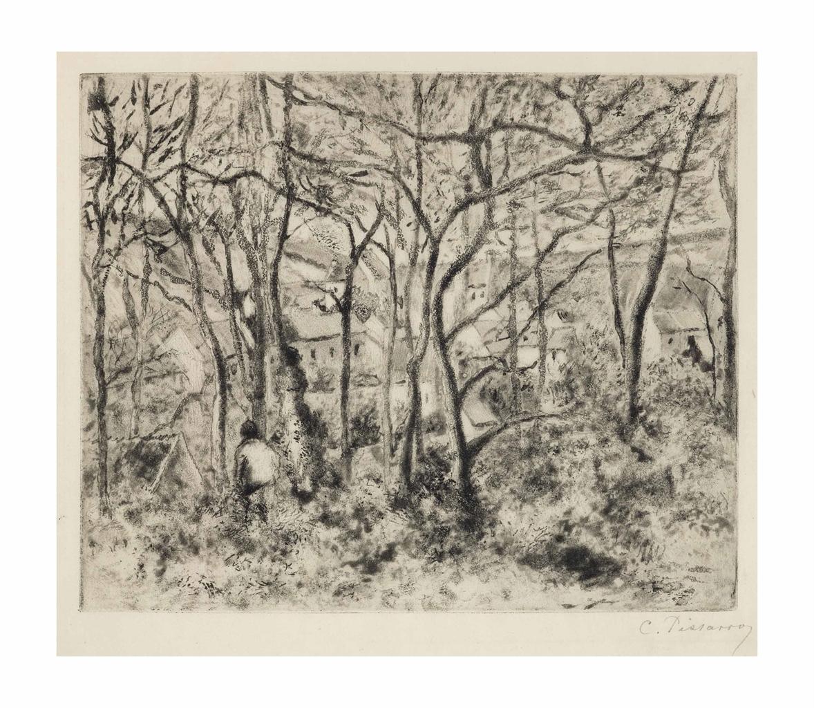 Camille Pissarro-Paysage sous Bois, a l'Hermitage (Pontoise)-1879