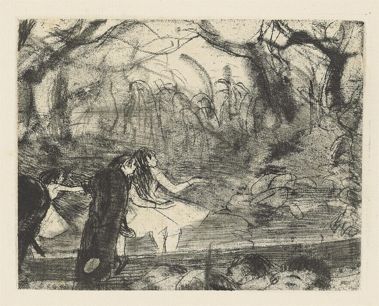 Edgar Degas-Sur la Scene - Deuxieme Planche-1877