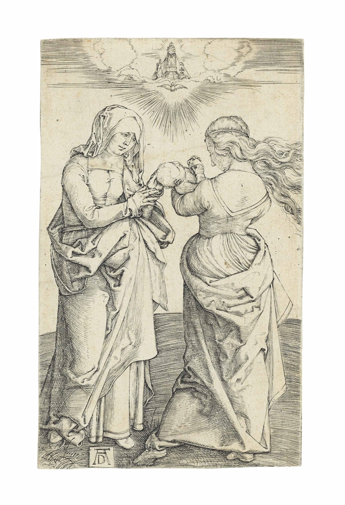 Albrecht Durer-The Virgin and Child with Saint Anne-1500