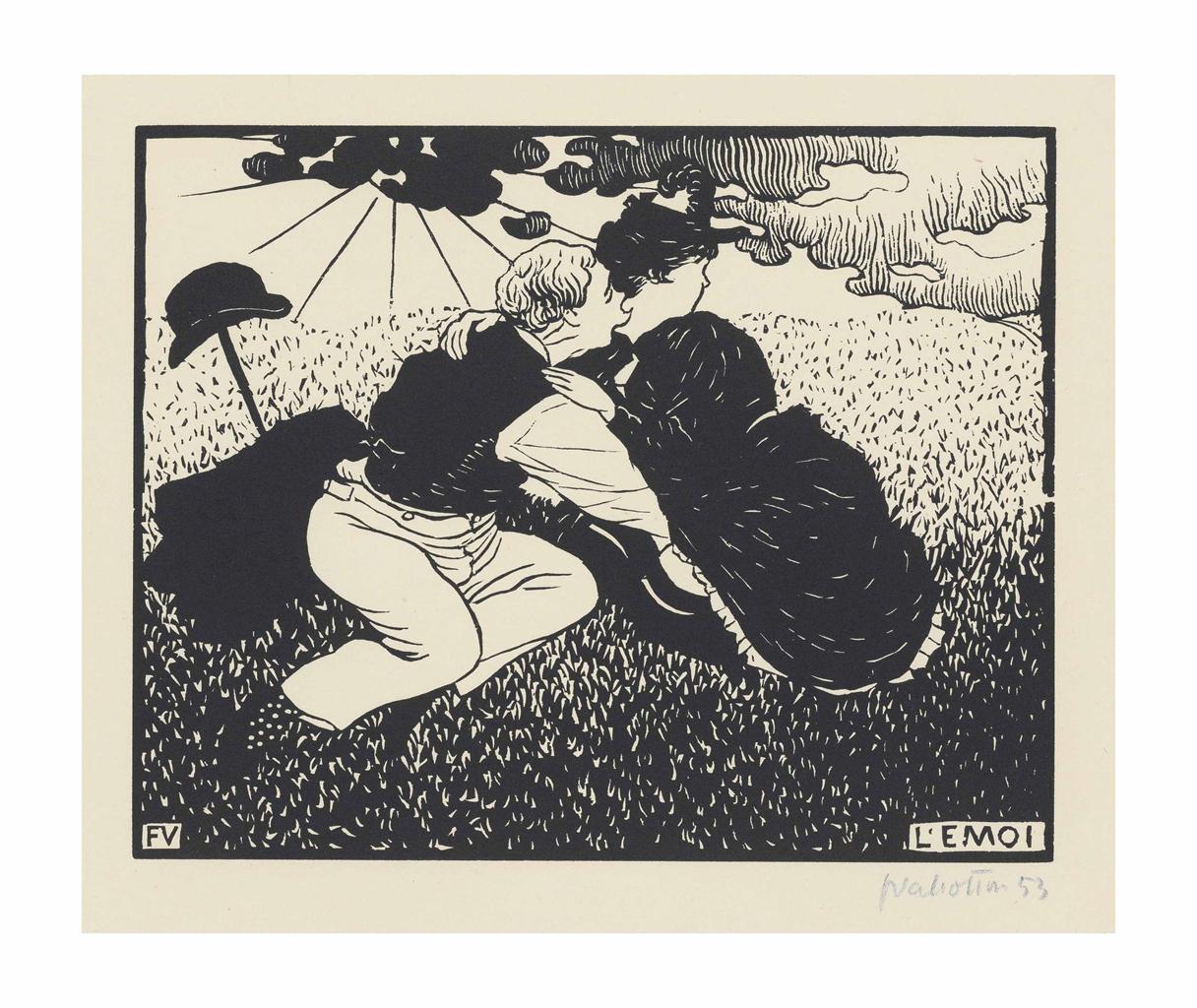 Felix Vallotton-L'Emoi (In a Flutter)-1894
