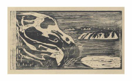 Edvard Munch-Klippen im Meer (Cliffs by the Sea)-1915