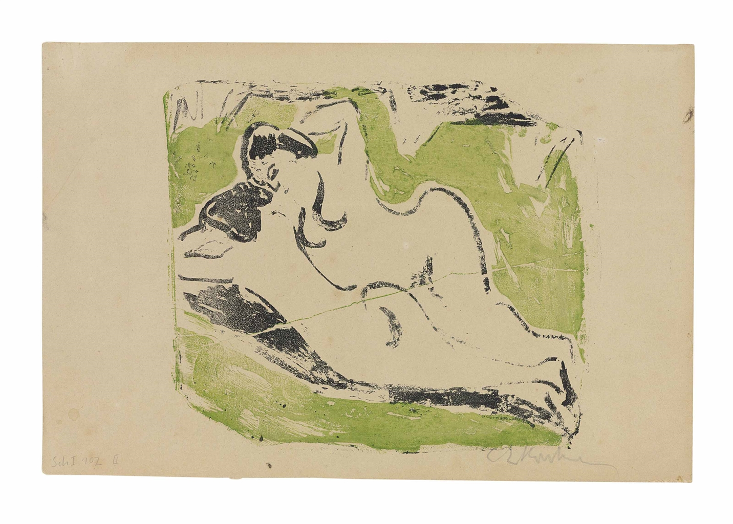 Ernst Ludwig Kirchner-Sich sonnende Badende-1909