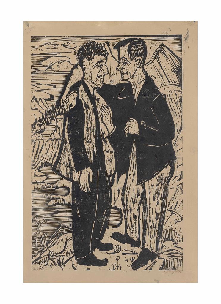 Ernst Ludwig Kirchner-Die Freunde (Muller und Scherer)-1924