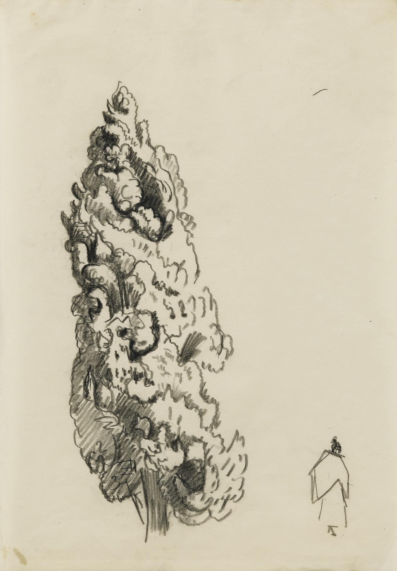 Paul Signac-Etude De Cypres-