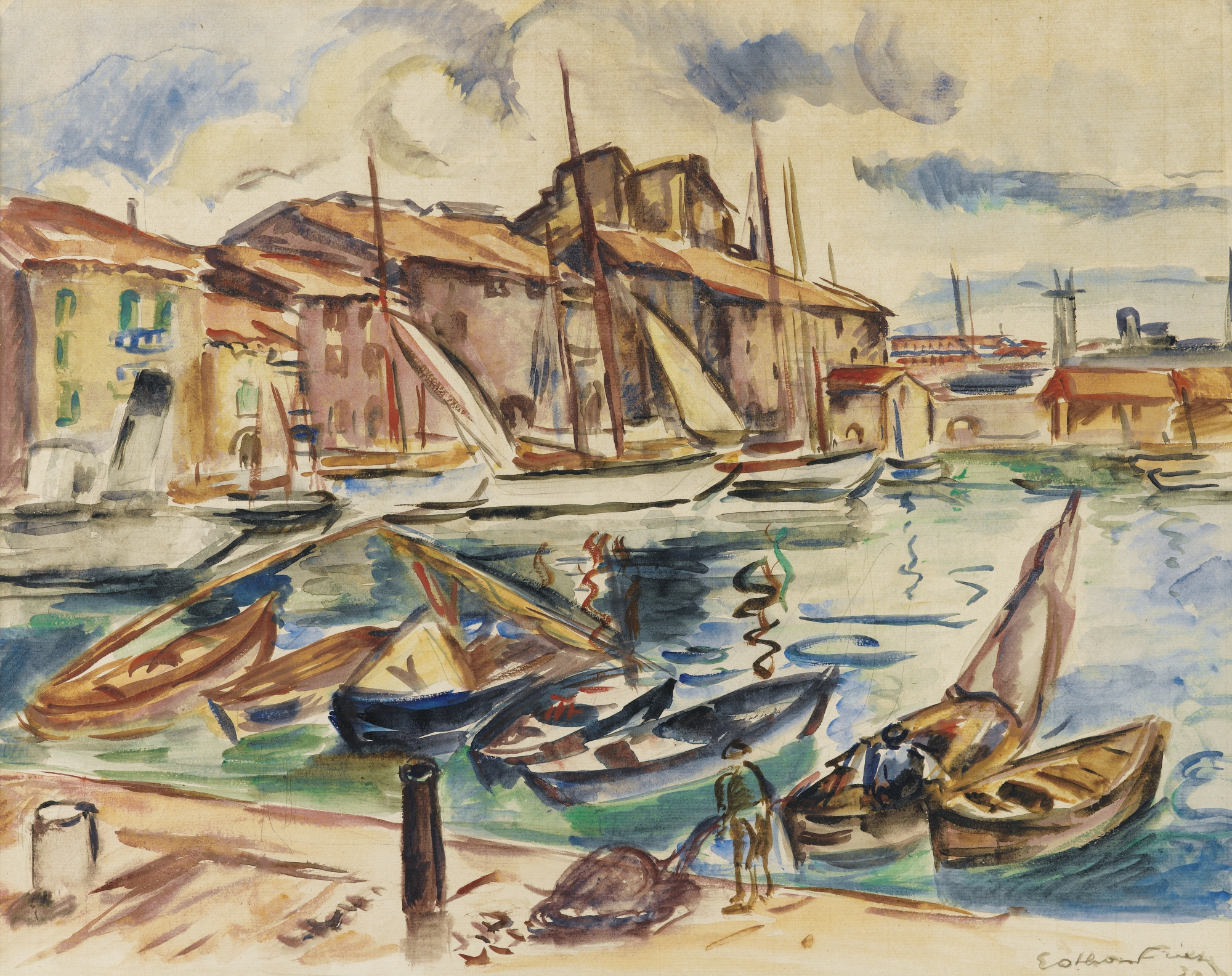 Othon Friesz-Le Port De Toulon-1930