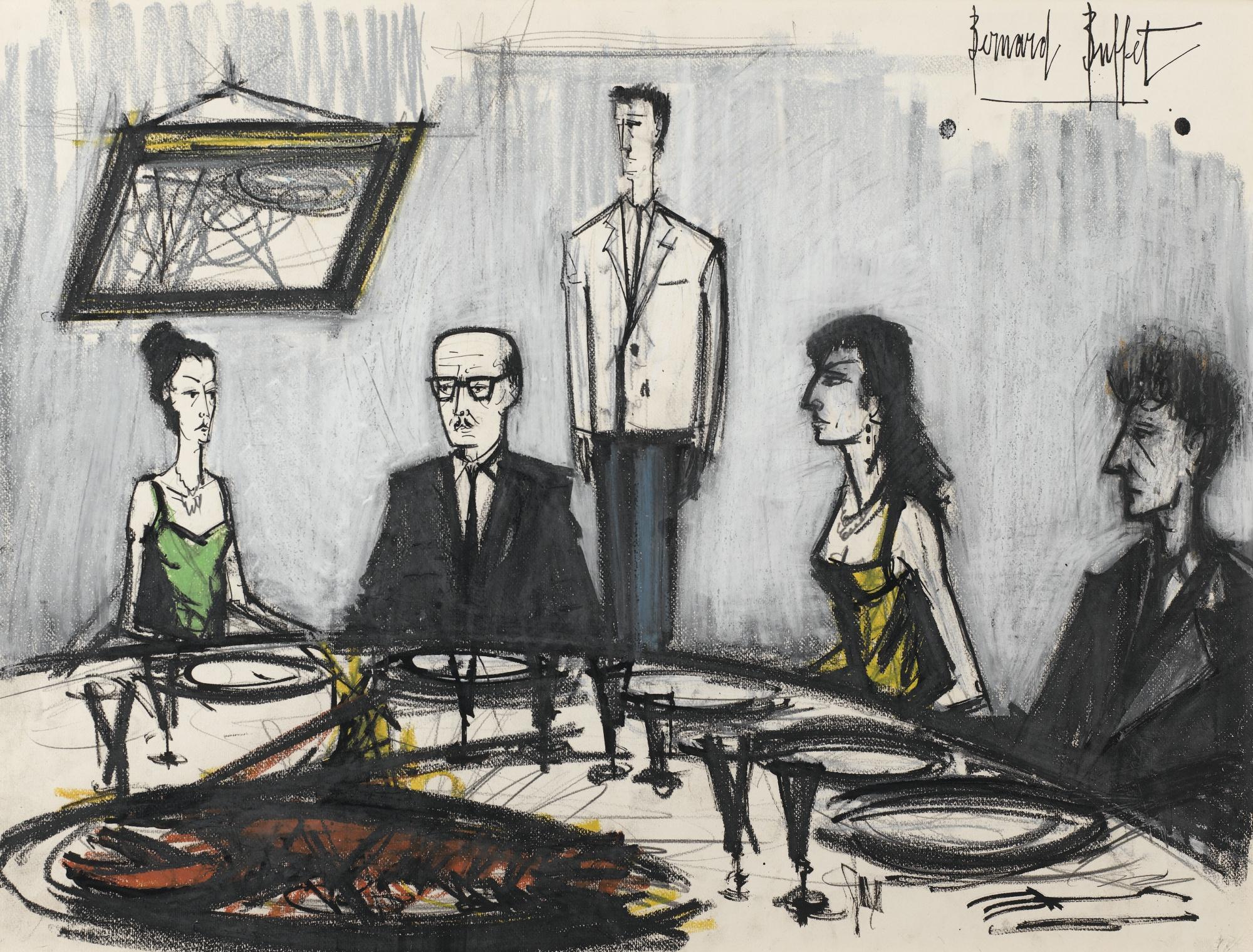 Bernard Buffet-Diner Mondain-1960