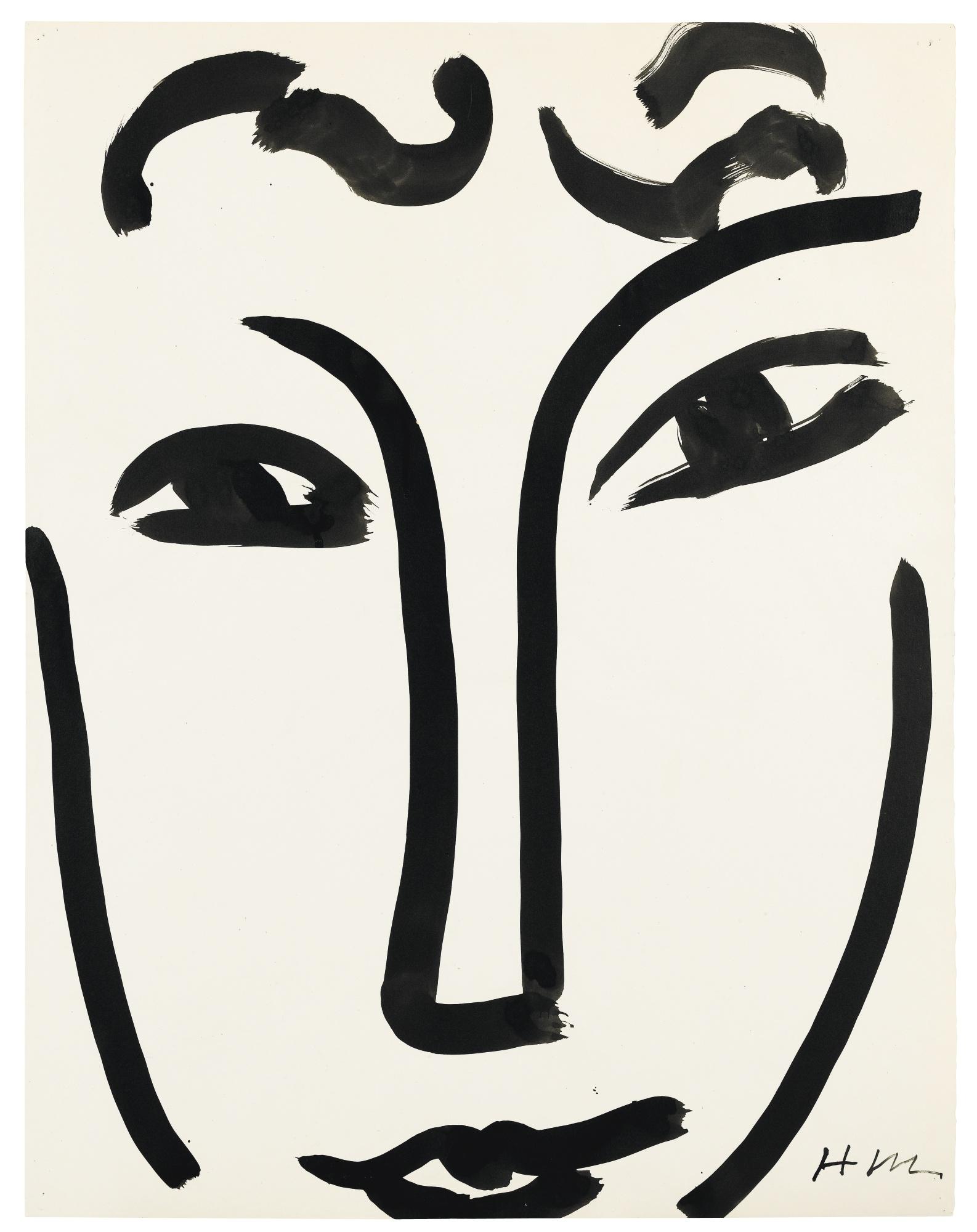 Henri Matisse-Visage-1952