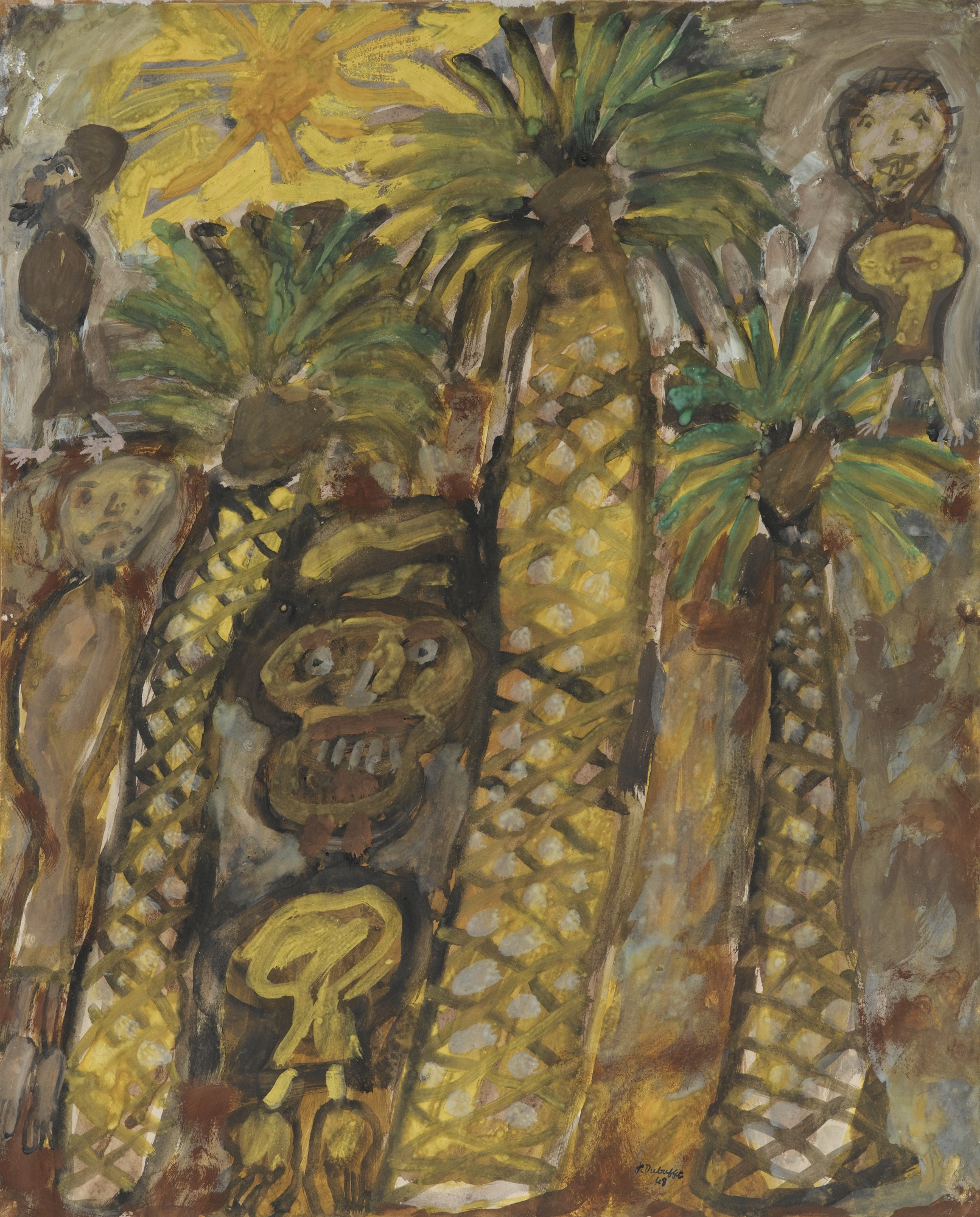 Jean Dubuffet-Palmier Aux Bedouins-1948