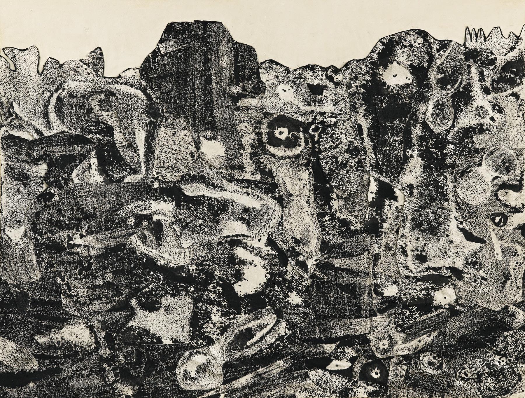 Jean Dubuffet-Mon Lieu De Promenade-1955
