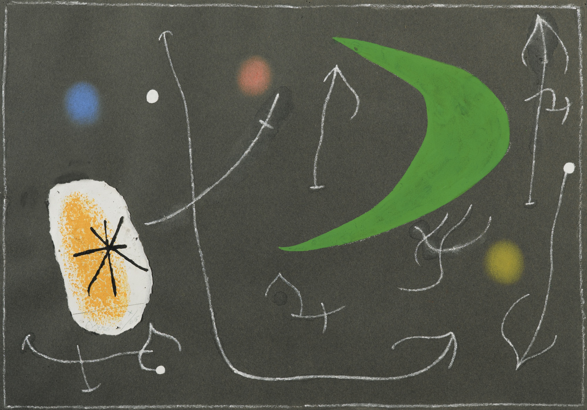 Joan Miro-Le Lezard Aux Plumes D'Or (Project For Plate 13)-1965