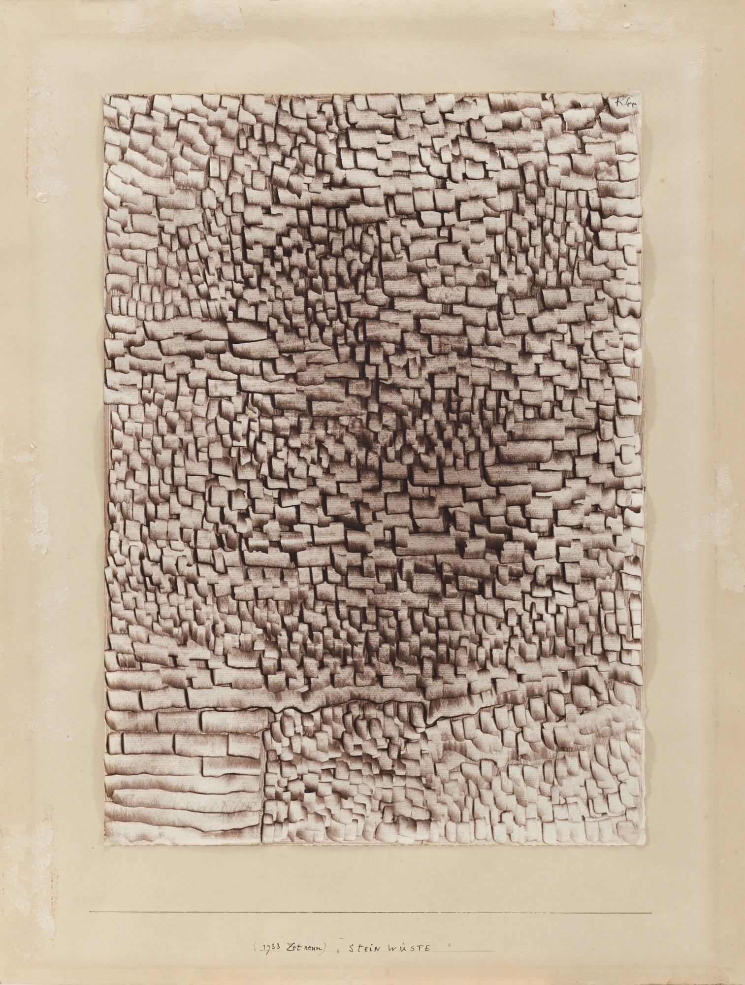 Paul Klee-Steinwuste (Stone Desert)-1933
