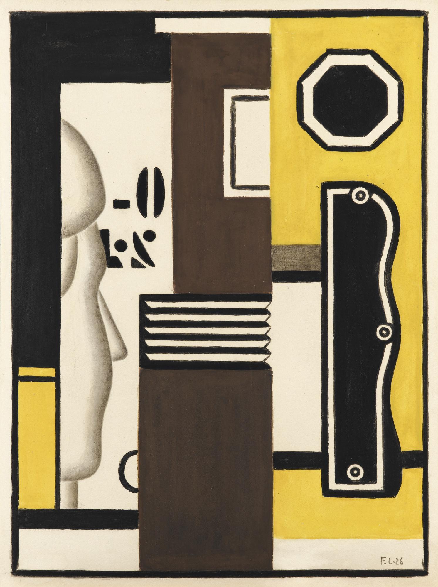 Fernand Leger-Composition Avec Profil-1926