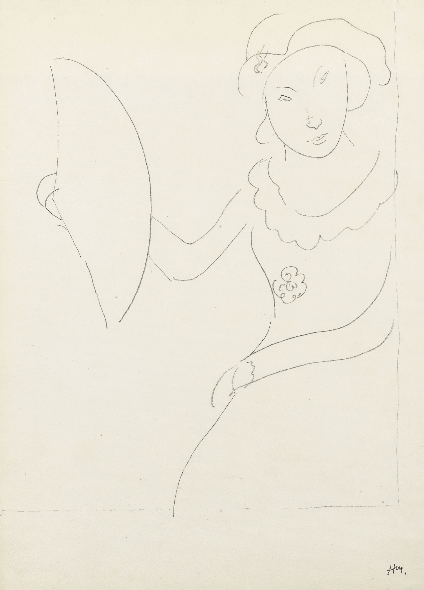 Henri Matisse-L'Eventail De Mademoiselle Malarme-1932