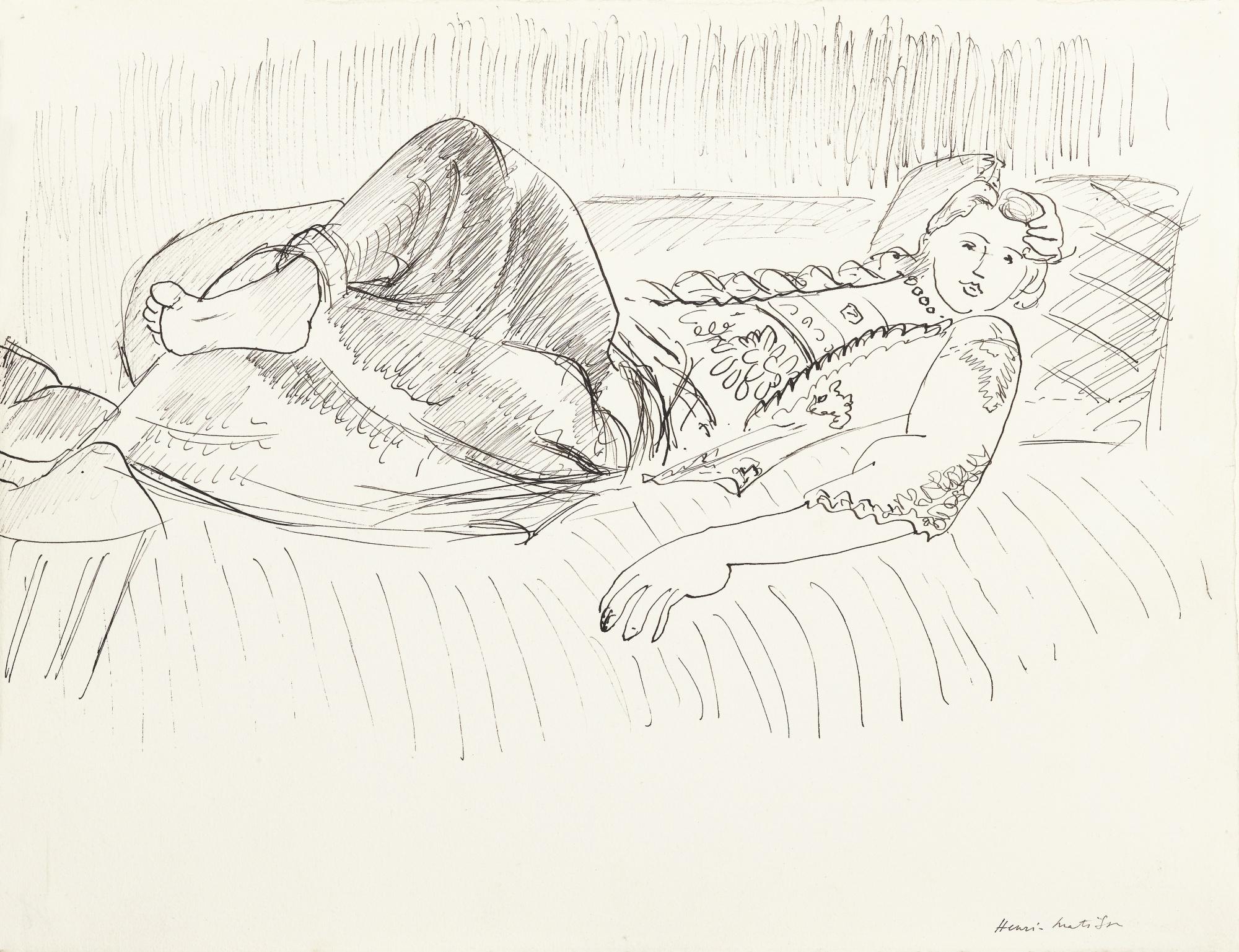 Henri Matisse-Odalisque Etendue-