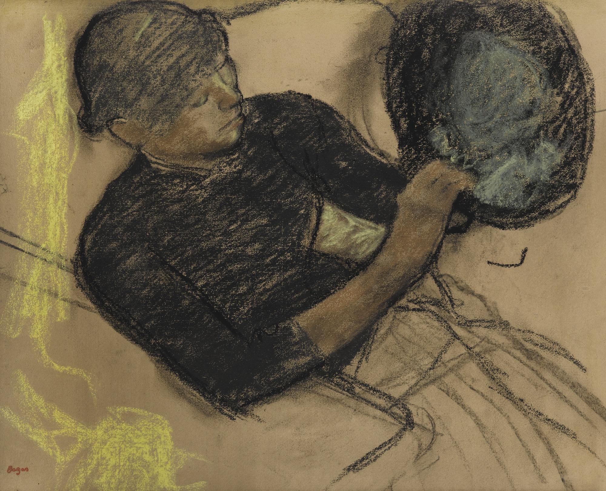 Edgar Degas-Chez La Modiste (Modiste Garnissant Un Chapeau)-1885