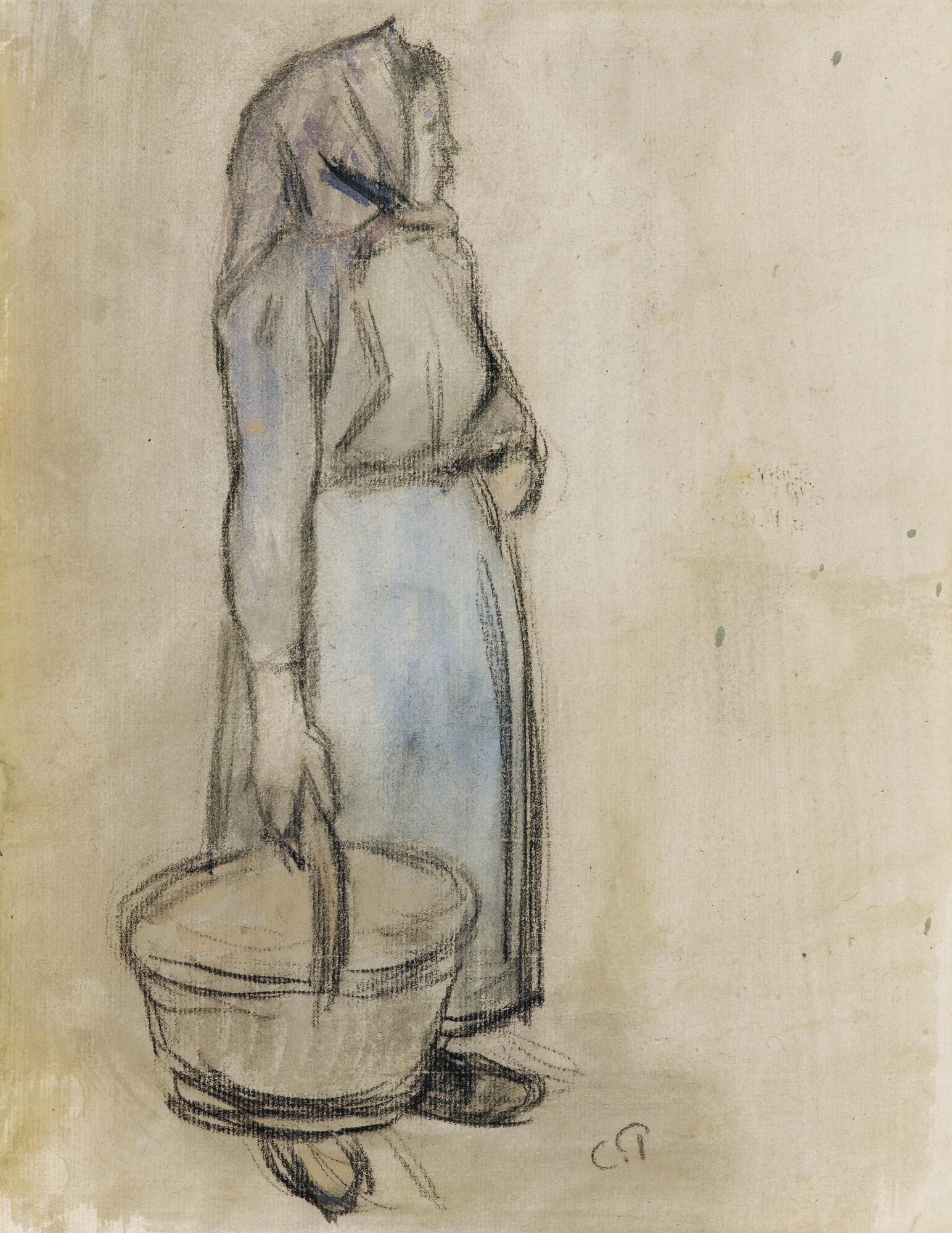 Camille Pissarro-Jeune Paysanne Au Panier-