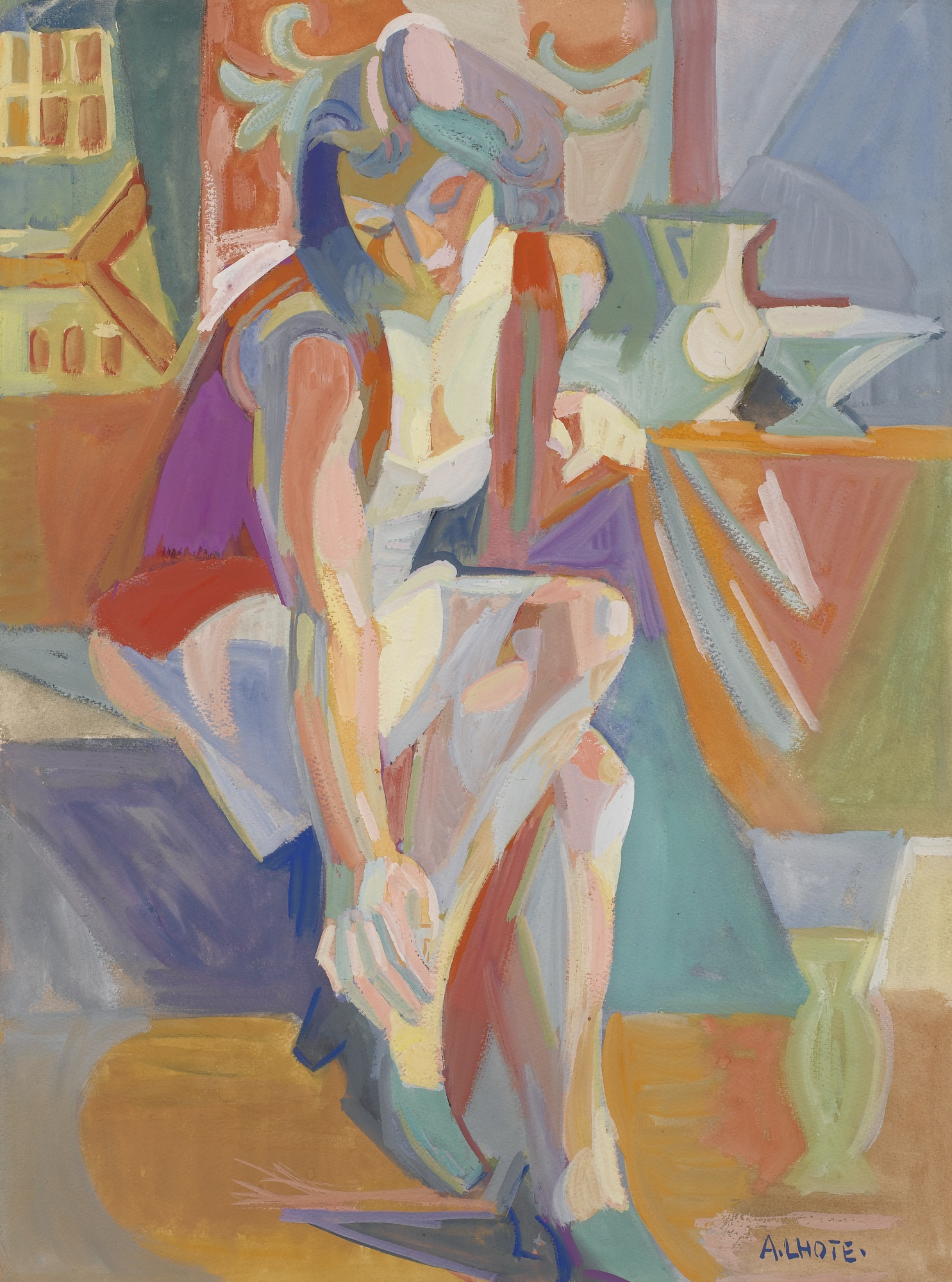 Andre Lhote-Femme A Sa Toilette-1942