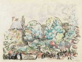 Paul Signac-Paris, Le Pavillon De Flore Vu Du Quai Anatole France-1912