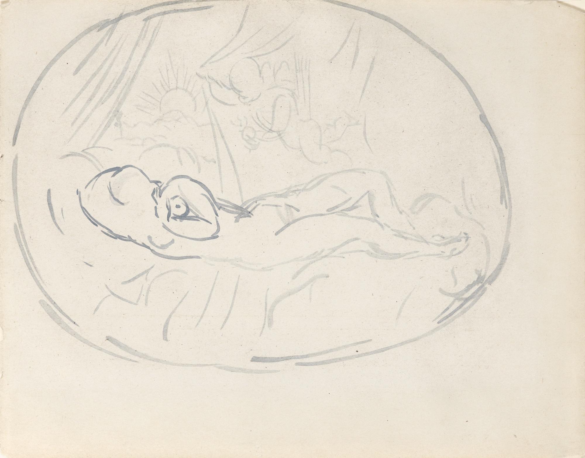 Pablo Picasso-Femme Nue Et Amour-1906
